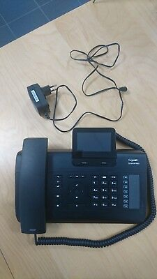 Gigaset de410 ip pro voip phone + adapter in good working condition