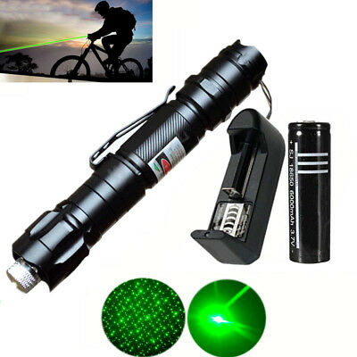 Tactical 1mw Green Lazer Laser Pointers Pen Beam Burn Zoom 18650 Battery Charger