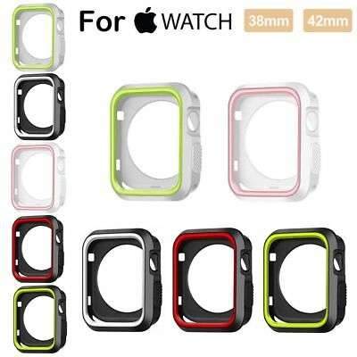 Silicone Bumper Frame Case Cover Protector for 38 42mm Apple Watch Series 3 2 1