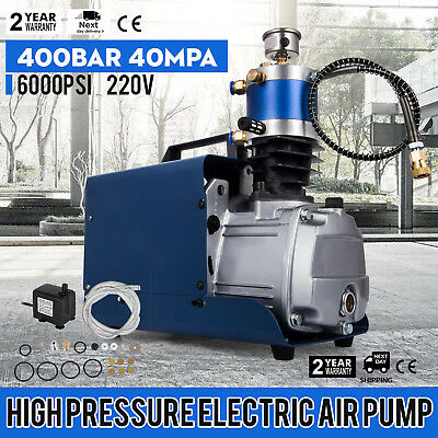 6000PSI 40Mpa Electric Pump PCP Air Compressor For Paintbal Air Rifles Cylinder