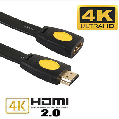 Gold Plated 4K 2.0 Hdmi Extension Cable Extender Male to Female LCD HDTV 1080P