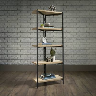 Industrial Style 4 Shelf Bookcase Chunky Durable Black Metal Frame
