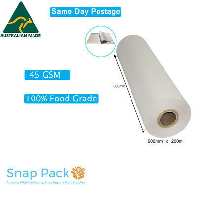 Butchers Paper Roll  600mm x 200m Paper Packing Wrapping Moving Drawing- A GRADE
