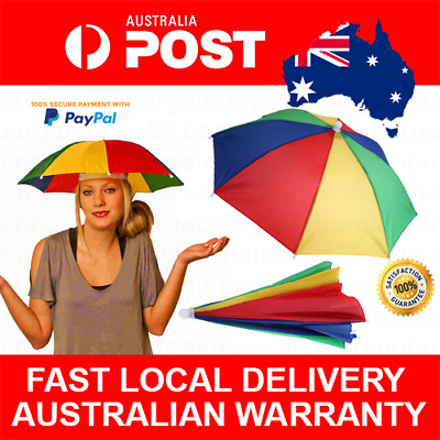 Funny & Useful Umbrella Hat Great for Party Festival Sports Concert Beach Kids
