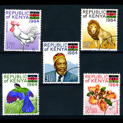 KENYA 1964 Republic. 5 Values. SG 15-19. Fine Used. (BH315)