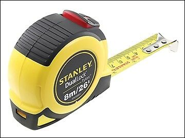Stanley Tools DualLock  Tylon Pocket Tape 8m/26ft (Width 25mm) STA036807