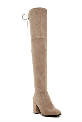 9a1a427d8f9 NEW STEVE MADDEN  Slayer  Taupe Over the Knee Heeled Boot Sz 8 ...