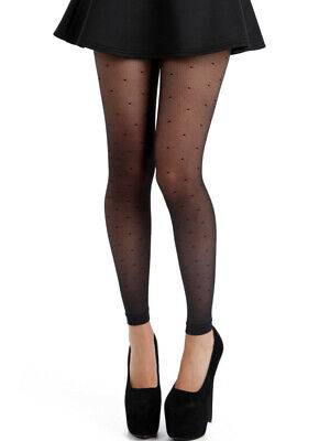 NEW Footless Tights FISHNET LACE TRIM Quality  DANCE ROCK Fashion 90s 80s 70s