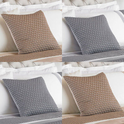 Riva Home Honeycomb Faux Silk Embellished Cushion Cover, 45 x 45 Cm