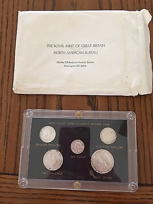 LAST SILVER COINS OF GREAT BRITAIN George VI 1946