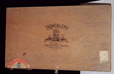 TABACALERA The Finest Cigars Cigar Wooden Box/Case Vintage/Antique?