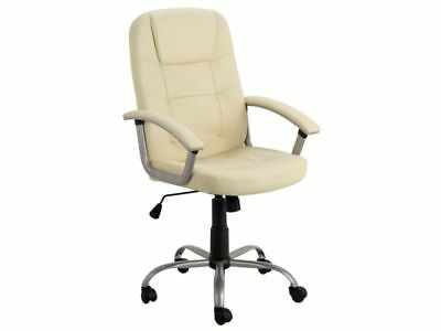 New Walker Height Adjustable Office Computer Desk Chair Ivory Executive Managers