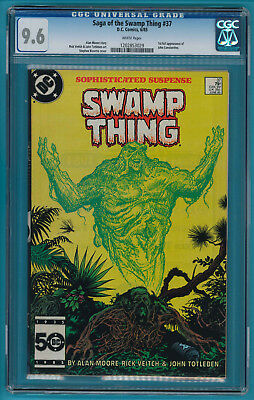 Saga Of the Swamp Thing #37 CGC 9.6  1st full appearance of John Constantine
