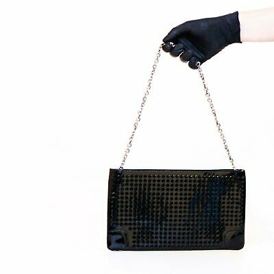 c20dad446a1 CHRISTIAN LOUBOUTIN LOUBIPOSH Clutch Spiked Patent - $590.00 | PicClick