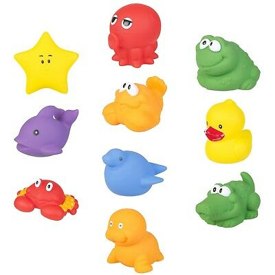 10pc Lifetime Bath Animals Floaties Rubber Squeeze Wash Toy Play Soft Baby Child