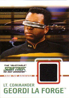 2005 QUOTABLE STAR TREK TNG - C5 COSTUME Lt Commander Geordi La Forge