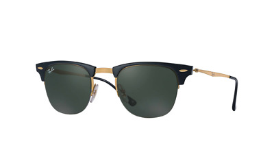 ade027e8f2 Ray-Ban Unisex Clubmaster Light Ray Sunglasses Black Gold New!  280 Read!