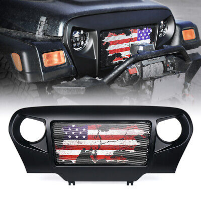 Gladiator Vader Matte Black Monster Grille Grill for 97-06 Jeep Wrangler TJ JK