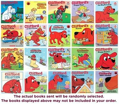 FIVE-PACK BUNDLE LOT - CLIFFORD THE BIG RED DOG CHILDREN'S BOOK -Norman Bridwell
