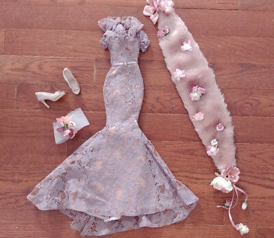 """Evangeline Ghastly 18"""" Doll Lavender Lace Gown  - 'gothic Rose' - Amazing"""