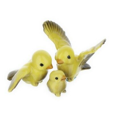 Canary Tweety Bird Family Miniature Ceramic Figurine USA Made by Hagen-Renaker