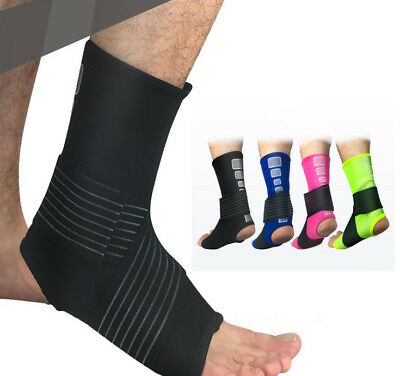 Sports Safety Ankle Support Elastic Brace Guard Support Foot Protection!