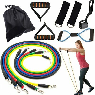 Resistance Bands Set, Exercise Fitness Bands with Door Anchor, 5 Exercise Bands!