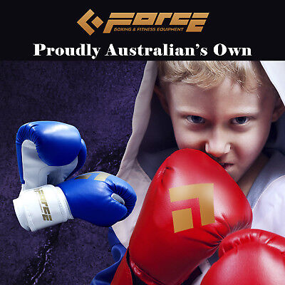 Force Children's boxing PU leather Blue gloves MTS-KIDS-GLOVE!