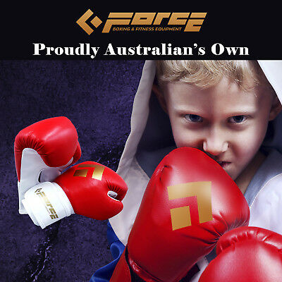 Force Children's boxing PU leather Red gloves MTS-KIDS-GLOVE-Red!
