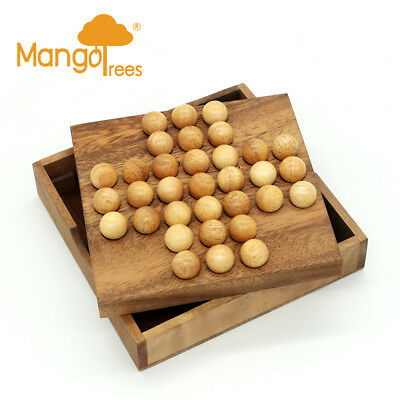 Solitaire Game With Wooden Marble GP104W!