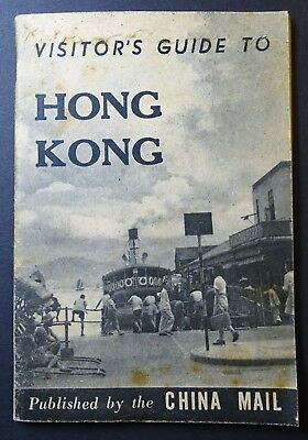 RARE - Visitor's Guide to Hong Kong 1948 with Map - ONLY 1 KNOWN Copy - Tourist