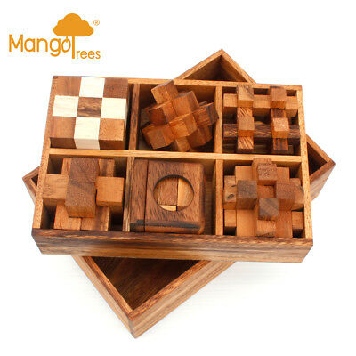 6 Puzzles Deluxe Gift Box Set #4 GP710!