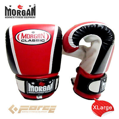 Morgan Classic Boxing Gloves MMA Training Bag Mitts Punch Sparring Gym ANBF APPR