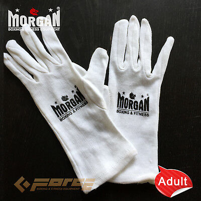 MORGAN BOXING GLOVE COTTON INNERS liner Sweat  inserts hand Senior Adult size UN