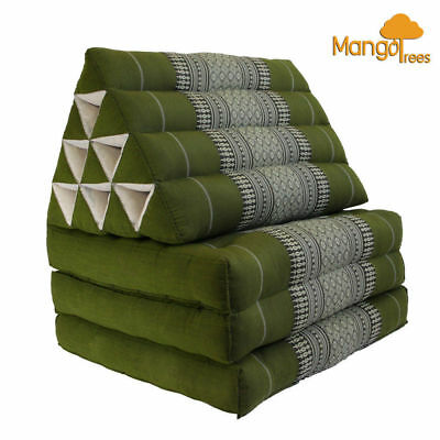 Thai Triangle Pillow Cushion Fold Out Day Bed Three Fold L Size Green!