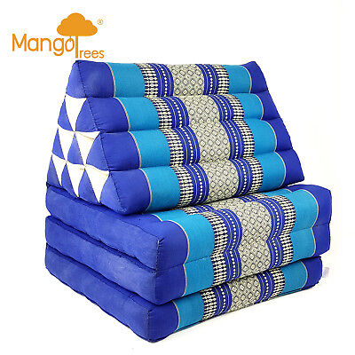 Thai Triangle Pillow Fold Out Mattress Cushion Day Bed THREE FOLDS L Size Navy!
