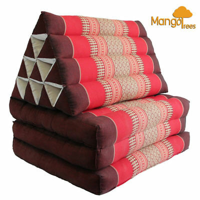 Thai Triangle Pillow Fold Out Mattress Cushion Day Bed THREE FOLDS L Size Red!