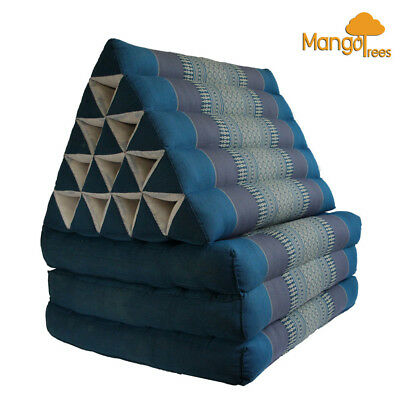 Jumbo Size Thai Triangle Pillow Fold Out Mattress Cushion Day Bed THREE FOLDS BL