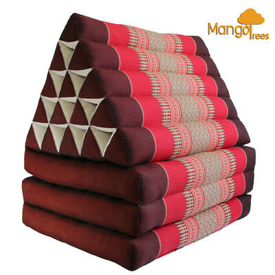 Jumbo Size Thai Triangle Pillow Fold Out Mattress Cushion DayBed THREE FOLDS RED