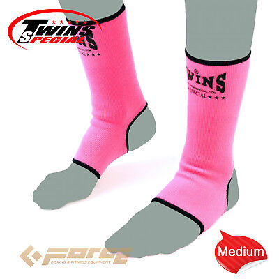 TWINS Special Pro Muay Thai Kick Boxing MMA UFC ANKLE GUARD Pink M!