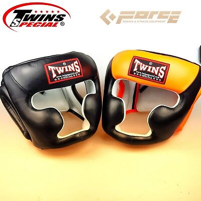 Twins Special Headgear Head Guard Training Kick Boxing Protector Sparring Gear F