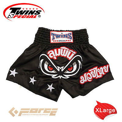 TWINS Special Pro Muay Thai Kick Boxing Shorts Pants No Fear/Lumpinee TBS-02 XL!