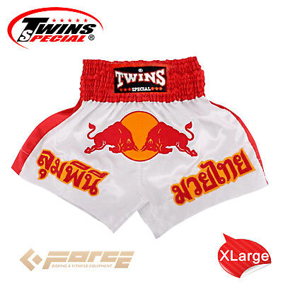 TWINS Special Pro Muay Thai Kick Boxing Shorts Pants Red Bull TBS-05 XL!
