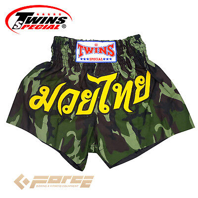 TWINS Special Pro Muay Thai Kick Boxing Shorts Pants Army Green TBS-34!