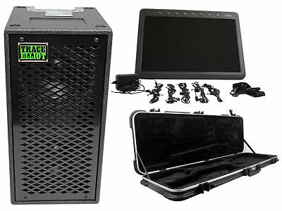 "Trace Elliot ELF 2x8 Dual 8"" Bass Guitar Speaker Cabinet+Guitar Case+Pedal Board"