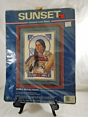 Sunset Noble Reflections Native American Counted Cross Stitch Kit