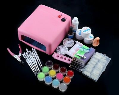 Professional nail art kit with Cure Lamp Dryer 36W UV Gel Nail Tools