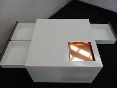 Shop Display Table White, Copper Tray 3 Draw (2 Avail) Solid other matched items