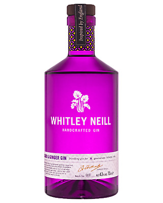 Whitley Neill Rhubarb & Ginger Gin 700mL case of 6