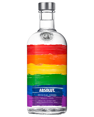 Absolut Rainbow Vodka 700mL case of 6